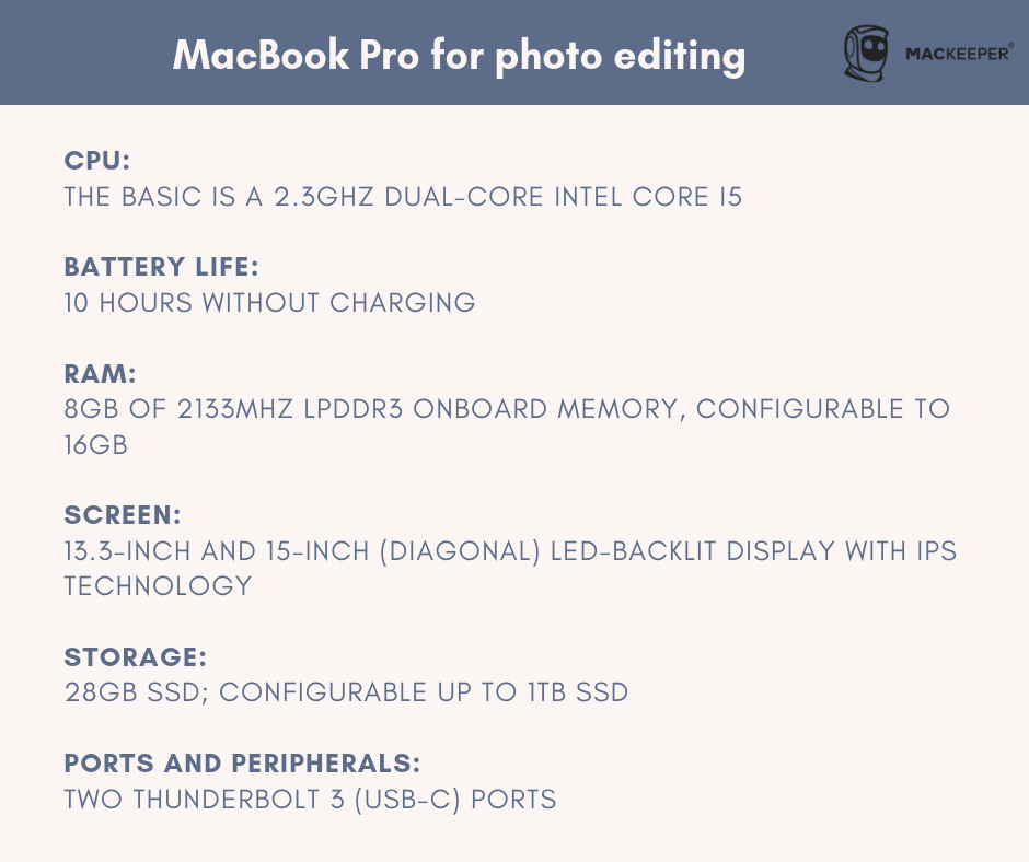 is macbook pro good for photo editing and photographers