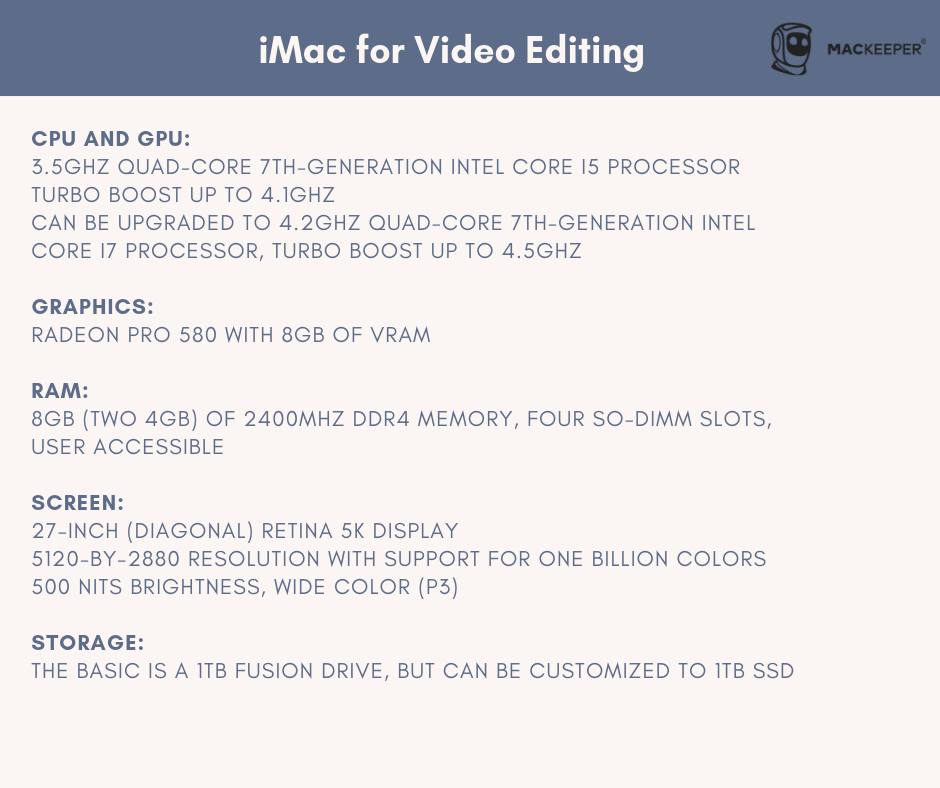 which mac is best for video editing and production?