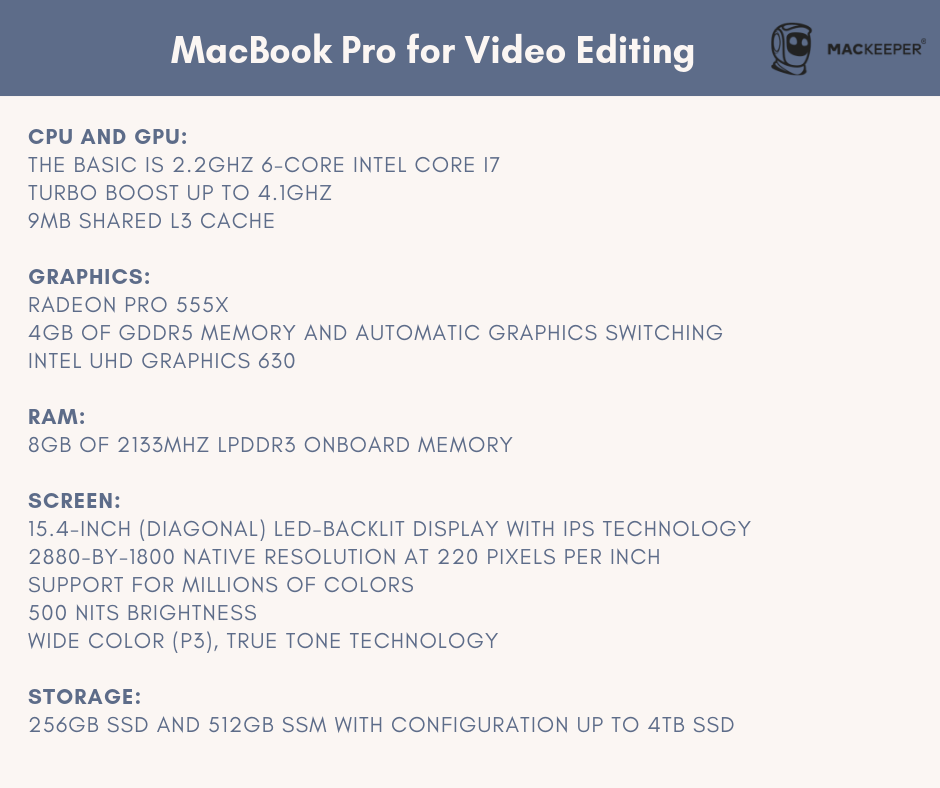 which Mac is best for video editing and production