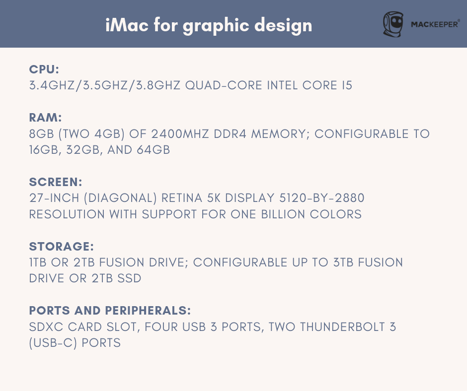 the best computer for graphic design iMac