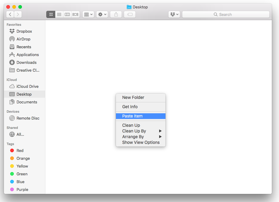 how to copy and paste on mac desktop mouse
