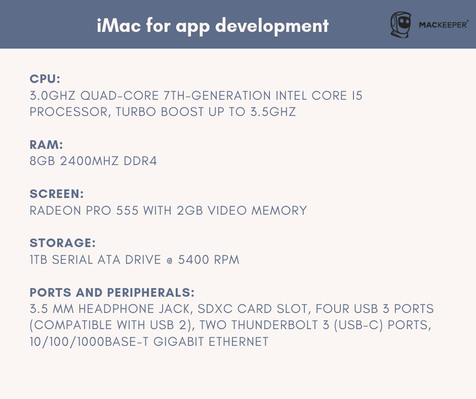 which mac is best for app development and coding imac