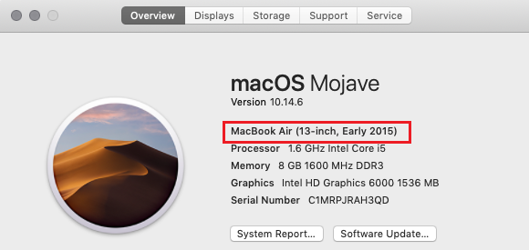 about this mac overview tab