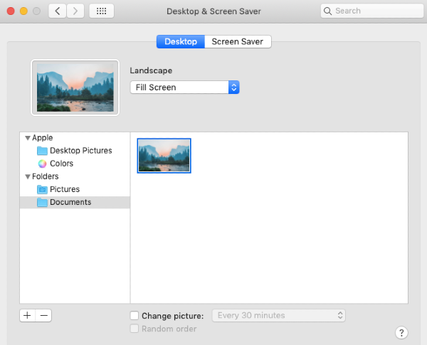 change background to a custom photo in system preferences