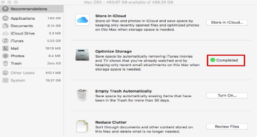 optimizing mac storage with storage management