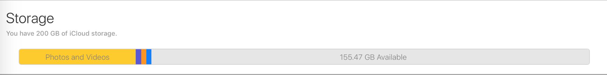 iCloud storage 200 GB