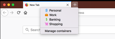 firefox multi-account containers extension with options