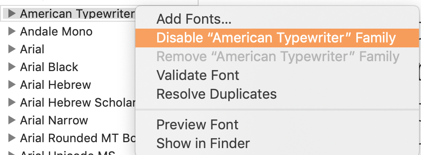 "disable-font.png""alt=""disable a system font in font book"