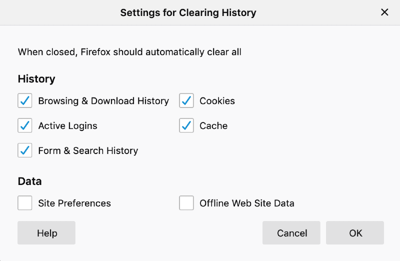 automatic cache clearing mac Firefox