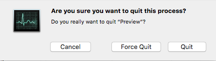 orce quit preview from activity monitor