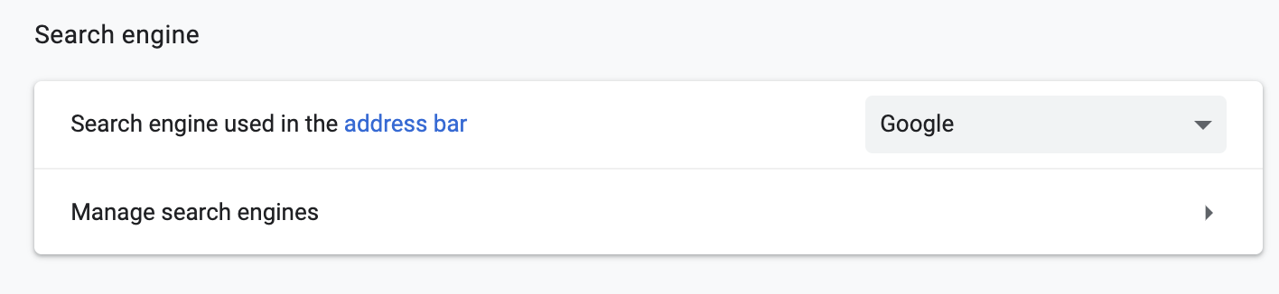 change search engine in chrome