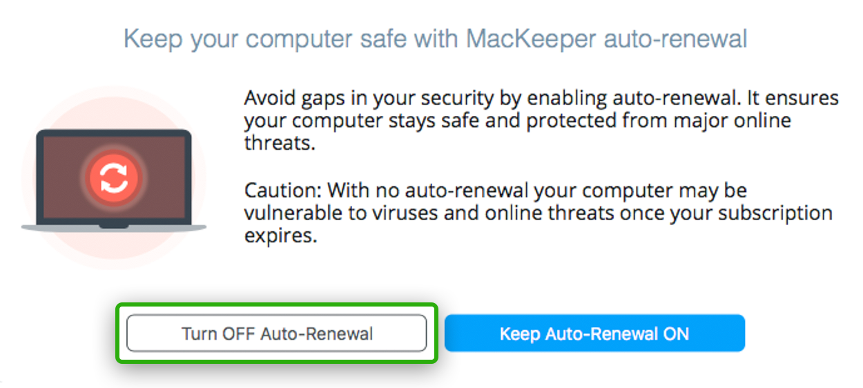 cancel MacKeeper subscription