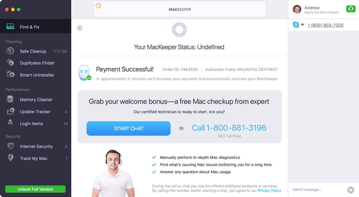 Find your MacKeeper activation code