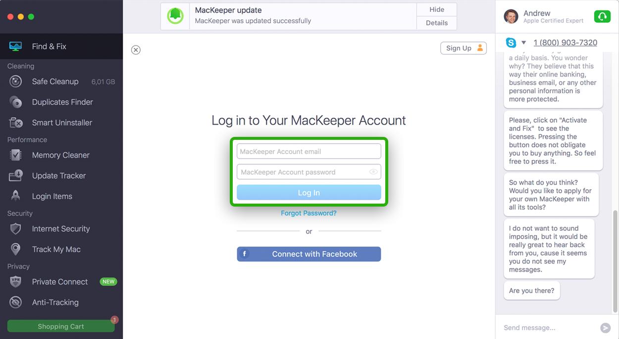 MacKeeper Log In
