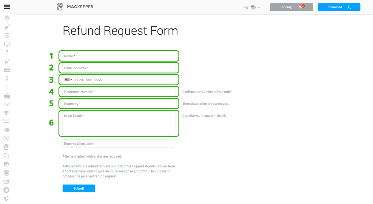 How to apply for a refund mackeeper