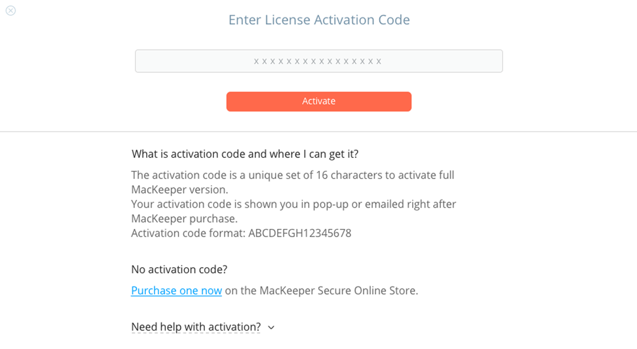 Activation Code MacKeeper