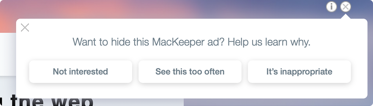 How to remove MacKeeper ads