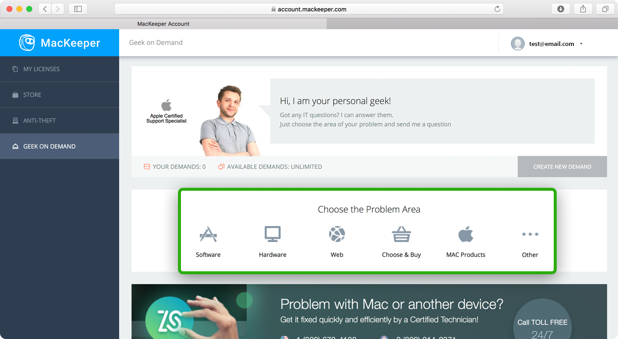 MacKeeper support