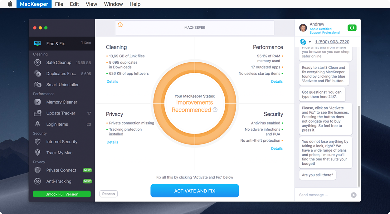 your MacKeeper license