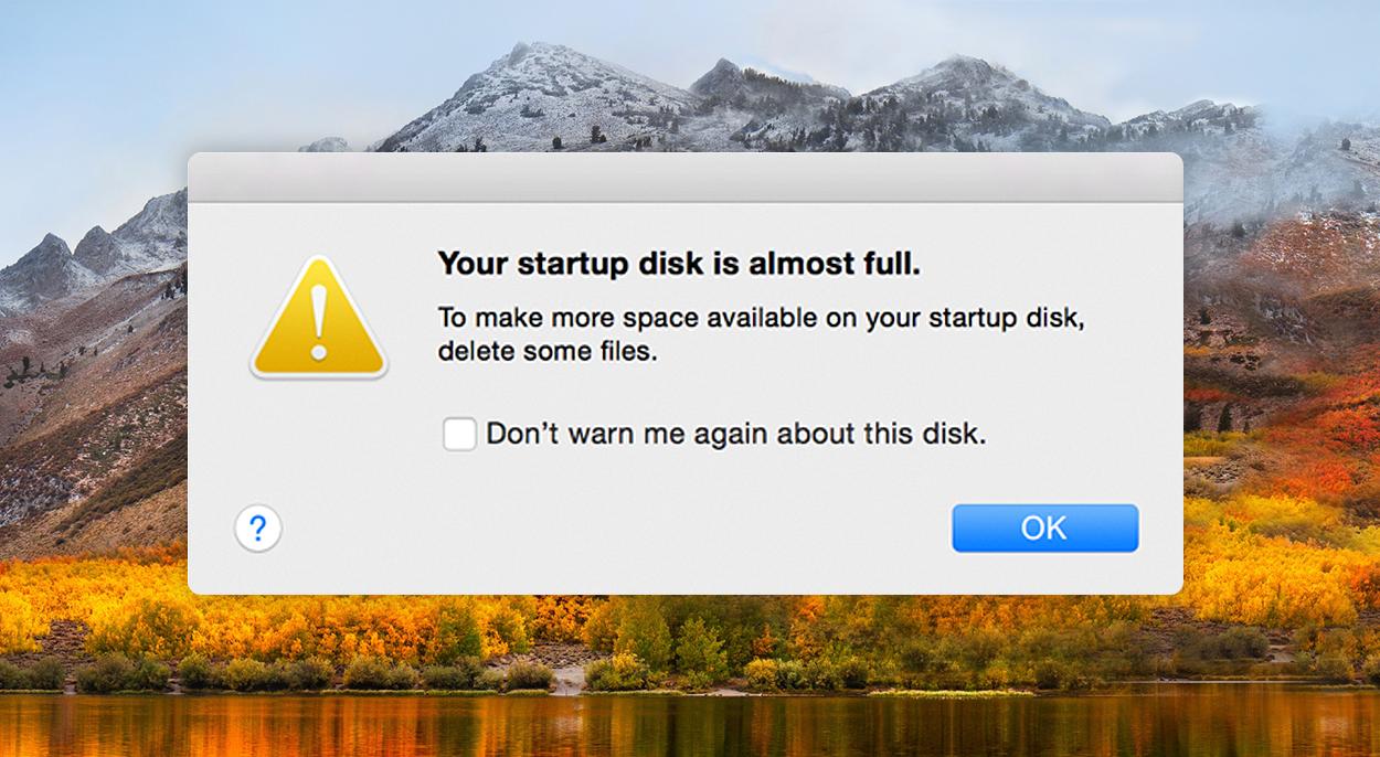 Startup Disk Full on macOS