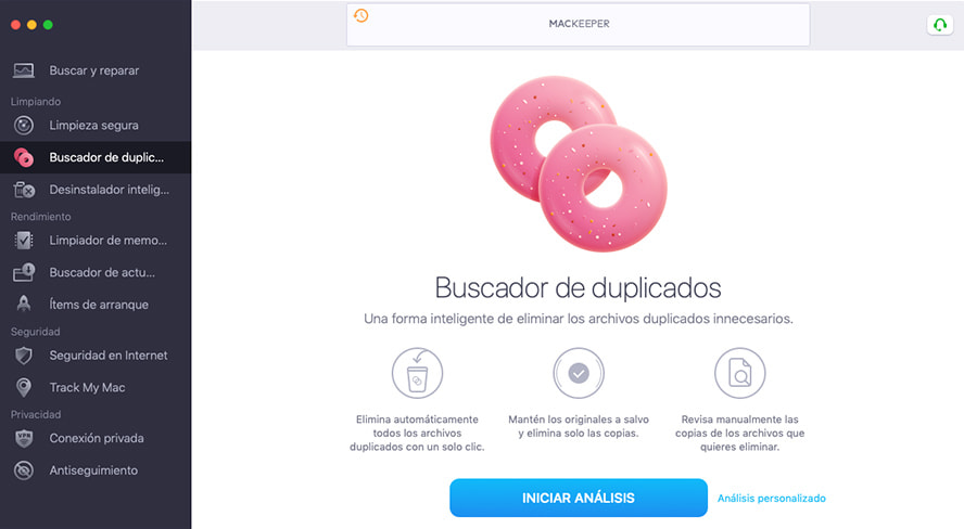 mackeeper duplicate finder
